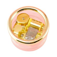 Home Decoration Circle GoldTransparent round Wind Up Music Box Gift Castle in the Sky Happy Birthday H01