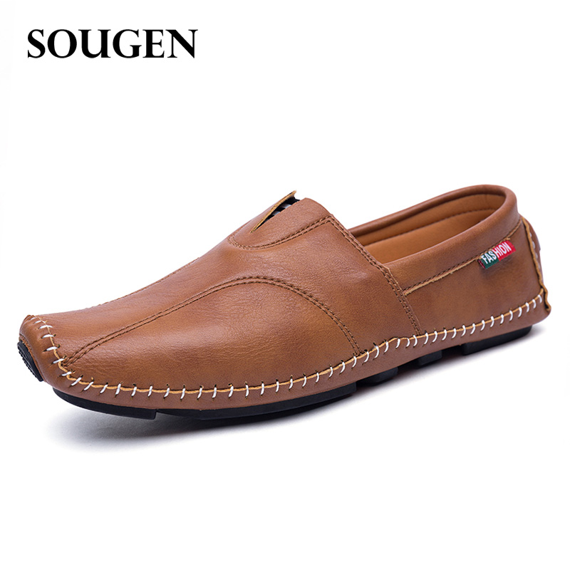 Footwear Male Autumn Casual Shoes for Men Ons Leather Mens Loafers Moccasins Red Bottom brand footwear luxury driving elevator