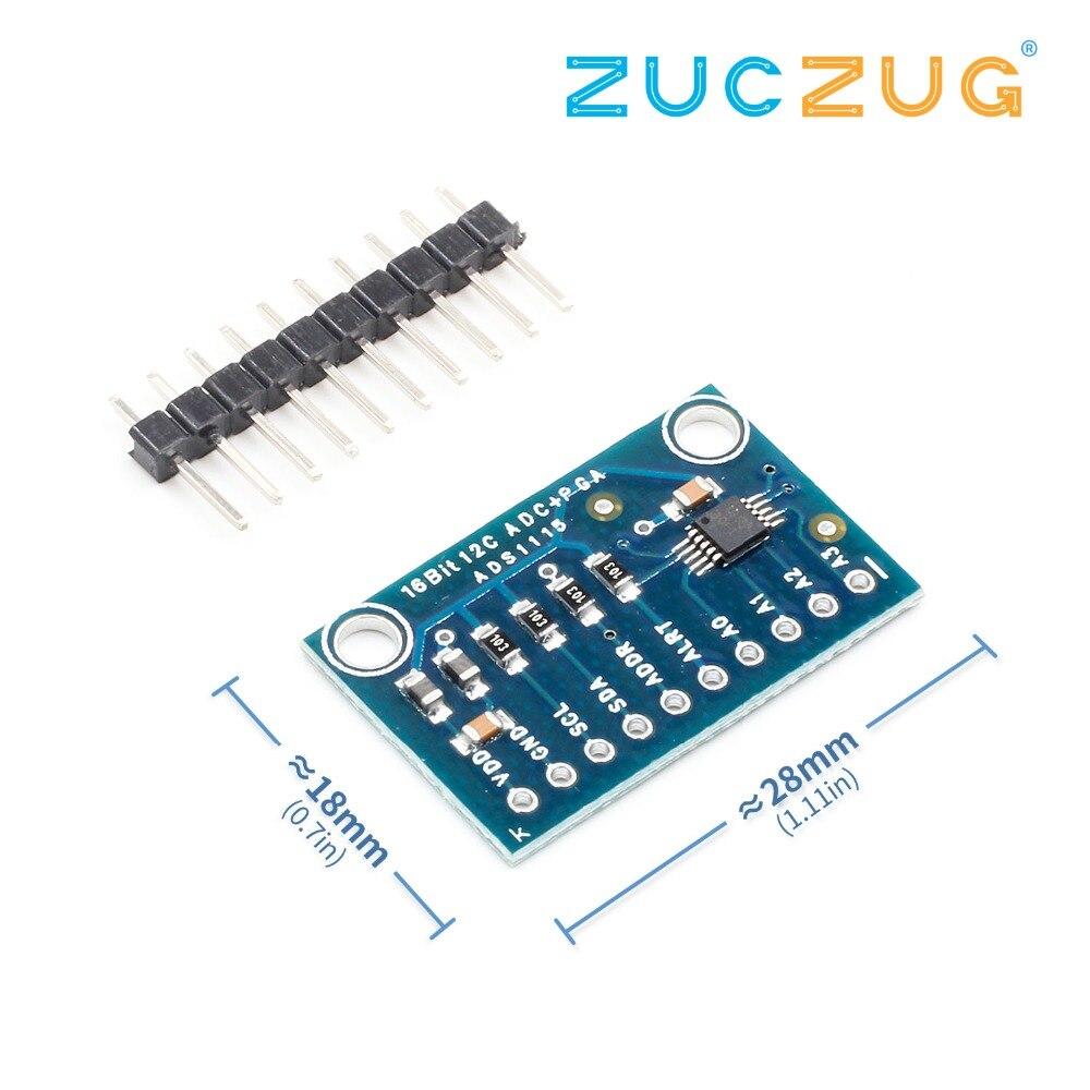 16 Bit I2C ADS1115 Module ADC 4 Channel With Pro Gain Amplifier RPi 1PCS