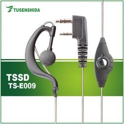 Высокое качество металлические наушники K-Тип два Домкраты ушной крючок двухстороннее радио наушник