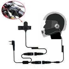 אופנוע מלא פנים קסדת אוזניות אפרכסת עבור שתי דרך רדיו Baofeng מכשיר קשר UV 5R UV 5RA בתוספת BF 888S GT 3 GT 3TP סימן