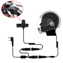 Motorcycle Full Face Helmet Headset Earpiece for Two Way Radio Baofeng Walkie Talkie UV 5R UV 5RA Plus BF 888S GT 3 GT 3TP Mark
