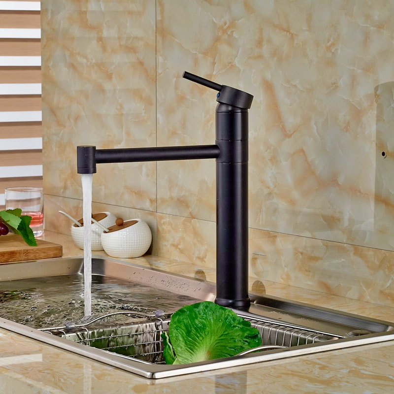 ULGKSD Free Shipping Wholesale Cold and Hot Water Tap Single Handle for Basin Sink and Kitchen Faucet Oil Rubbed Bronze micoe hot and cold water basin faucet mixer single handle single hole modern style chrome tap square multi function m hc203