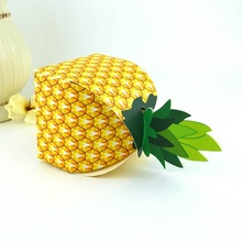 New Pineapple Fruit Candy Box Wedding Favors and Gifts Bag Chocolate Packing Paper Boxes for Kids Baby Shower Party Supplies
