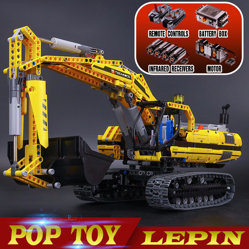 DHL Лепин 20007 техника серии 1123 шт. экскаватор модель строительные блоки Кирпич совместимые игрушка Рождественский подарок 8043 развивающие авт...