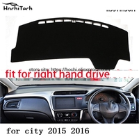 For honda city 2015 16 right drive dashboard mat Protective pad black color car styling Interior Refit Sticker Mat products