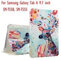 High Quality Fashion 3d Printer PU Leather Case For Samsung Galaxy Tab A 9 7 SM