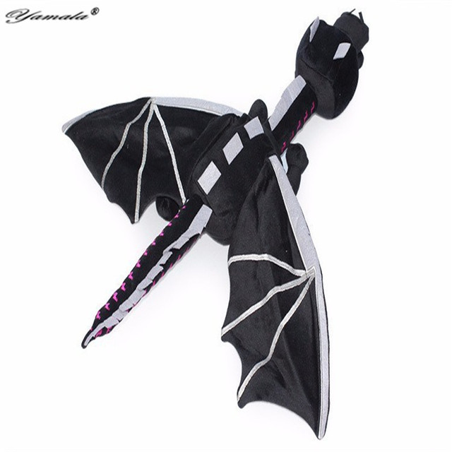 Yamala Minecraft Plush Toys 60cm Minions Minecraft Ender Dragon Anime Plush Toy Soft Black enderdragon Poke Plush Kids Toys