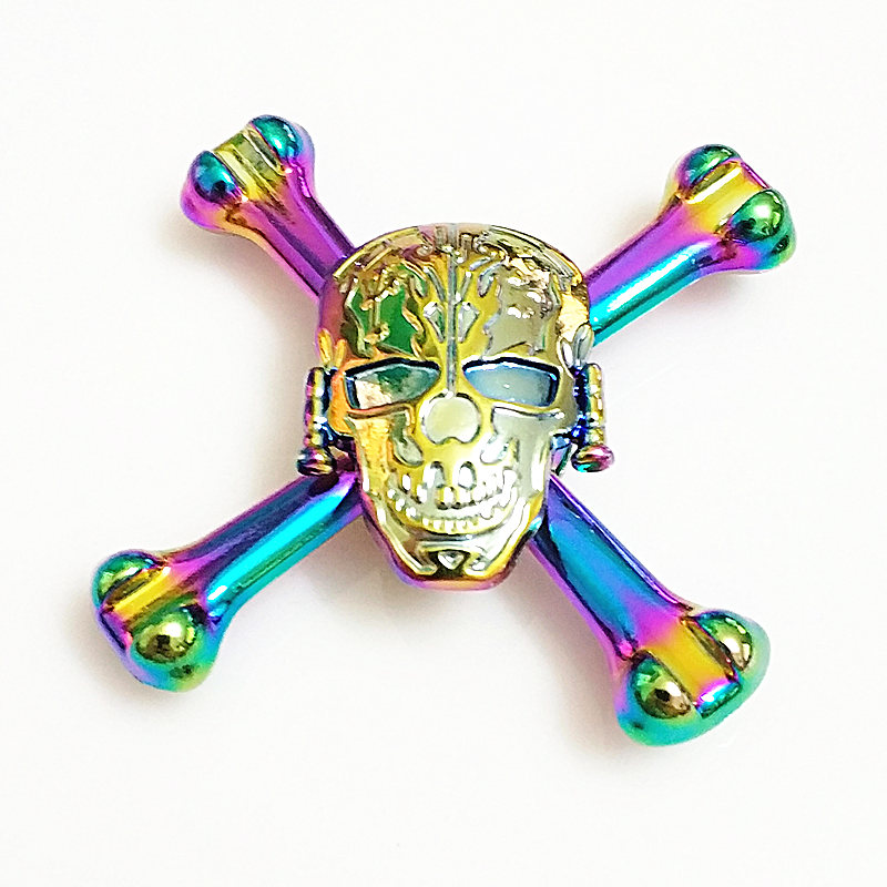 Big Ghost Bone High Quality Fidget Spinner Metal Rainbow Dragon Hand Finger Spinners Autism ADHD Focus Anxiety Relief Stress