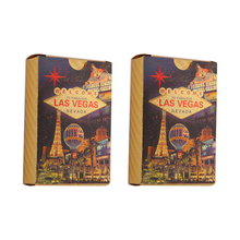 LAS VEGAS Playing Cards Waterproof Card PVC Poker Collection Durable Creative Gift Card Game Plastic Poker Cards Playing iso free sample pvc fidelity card pvc gift vip card bussines card within 39 barcode barcode plastic cards