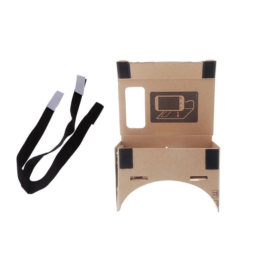 CES-VR Virtual Reality Google 3D Glasses +a belt for adjustable elastic removable black head M Size