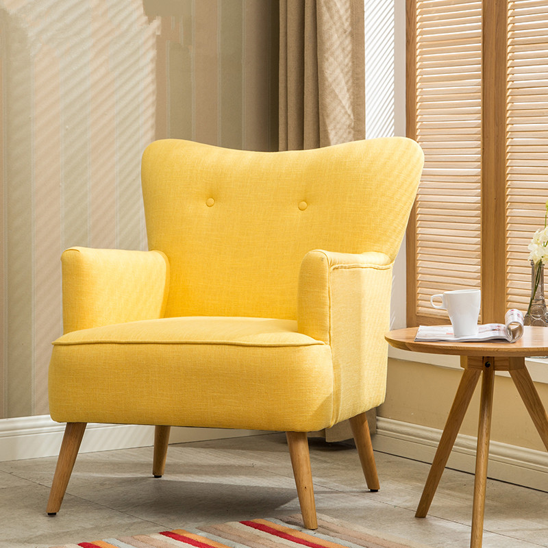 Aliexpress.com : Buy Modern Armchair Chair Wooden Leg Home Furniture Living  Room Chairs Bedroom Leisure Wing Chair Design Upholstered Accent Armchair  From ... Part 87