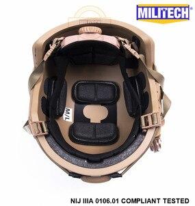 Image 5 - ISO Certified MILITECH CB NIJ Level IIIA 3A FAST OCC Liner High XP Cut Bulletproof Aramid Ballistic Helmet With 5 Years Warranty