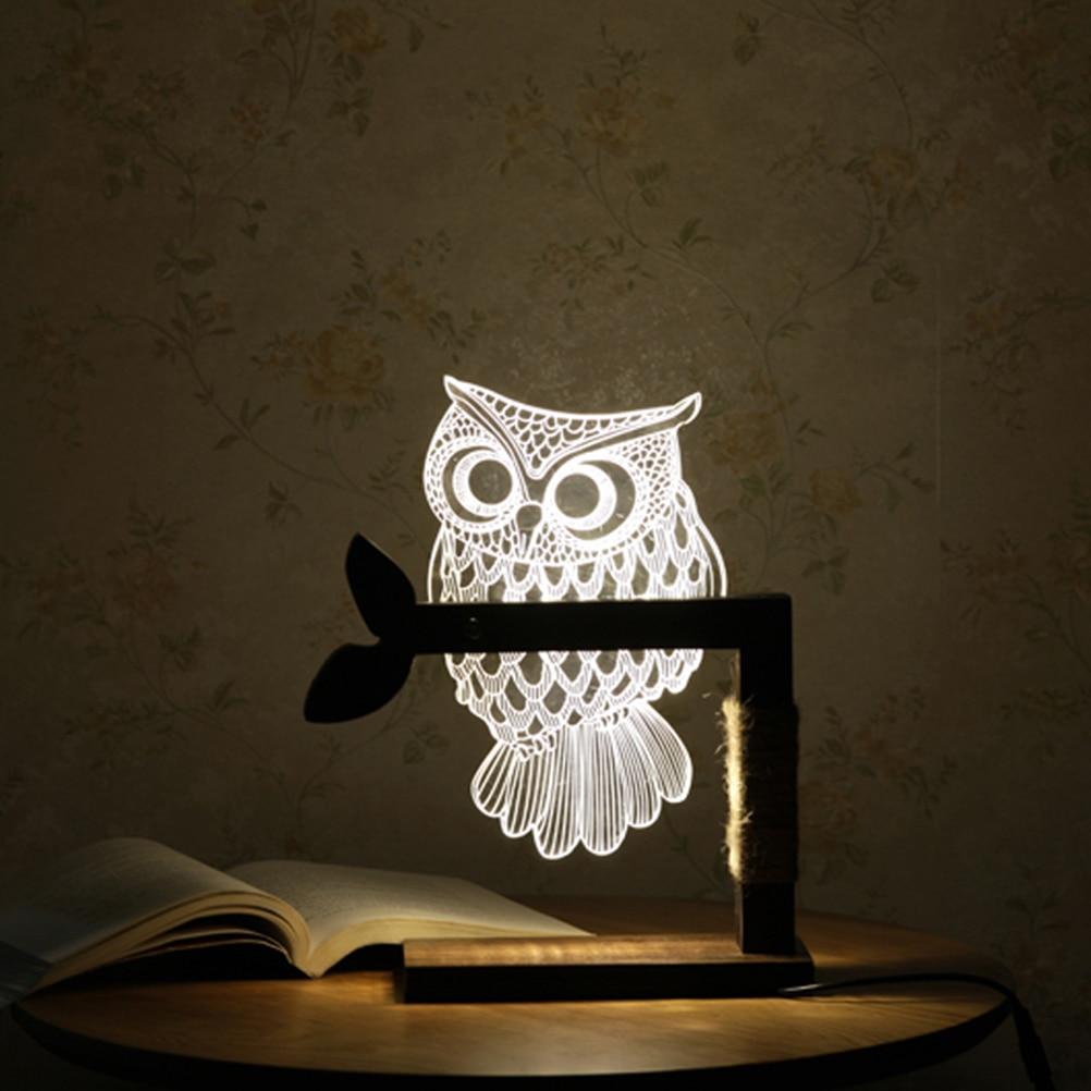 New year 3d acrylic owl nightlight household bedroom office led 3d acrylic owl nightlight household bedroom office led table lamp child christmas gift with ukeu plug aloadofball Images