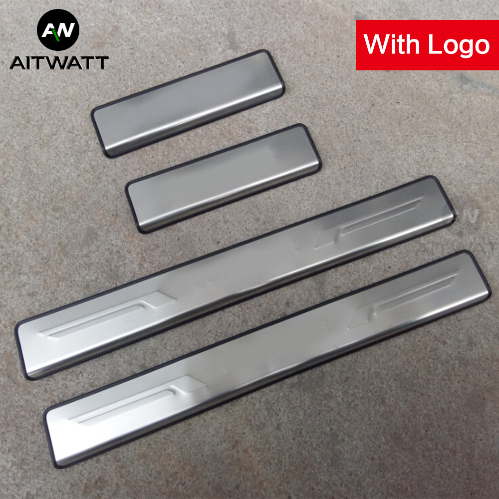 For Mitsubishi Outlander 2007 2008 2009 2010 2011 2012 Stainless Steel Door Sill Scuff Plate Car Protector Pedals Guards Covers