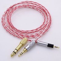 1.2m 4ft Hi End Furutech Silver Plated Cable with Shield Headphone Upgrade Cable For Sennheiser Momentum