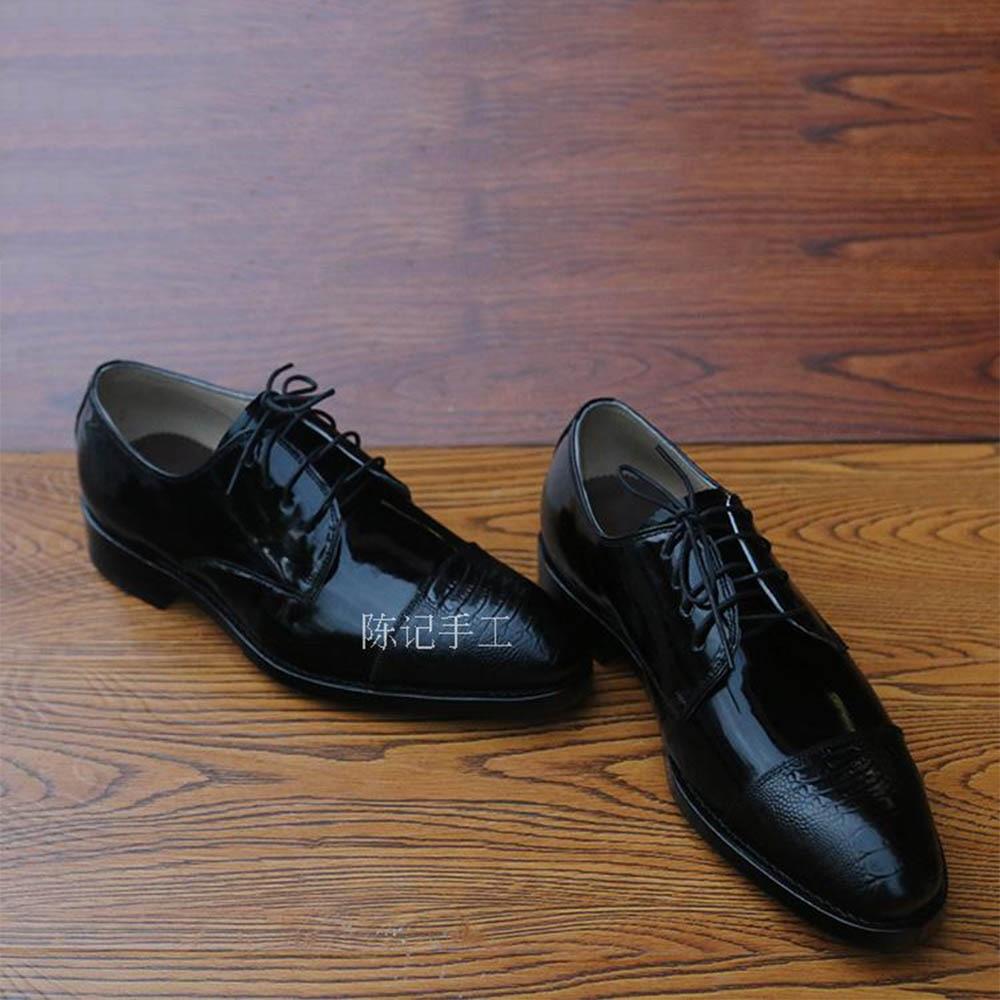 Oxfords Sapatas Apontado Tamanho Goodyear Importado Sapatos Dedo Welted Brilhante Patente Dos Sipriks Preto Big Vestido De Homens Couro Pé Do Igreja HaIw5q