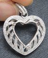 2012 NEW DESIGN!! 12x13mm HEART CUT JEWELRY PENDANT, SOLID 14KT GOLD DIAMOND SEMI MOUNT PENDANT