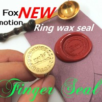 Customize Finger Ring Wax Stamp With Your Logo DIY Ancient Seal Retro Stamp Personalized Stamp Wax