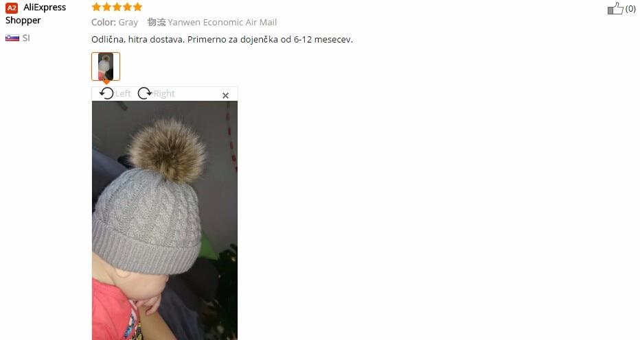 7679832522c 1 pcs Cute Boys Girls Winter Warm Hat Fur Ball Pom Pom Cap Kids ...