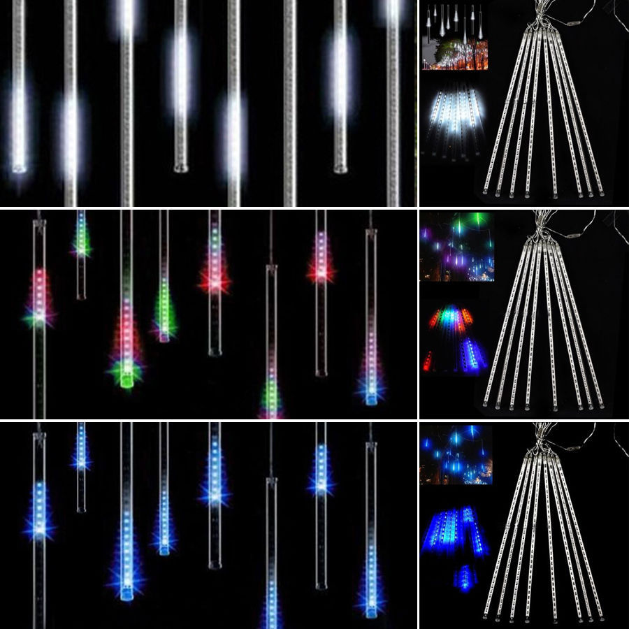 8 Falling Rain Drop/Icicle Snow Fall String LED Xmas Tree Cascading Light Decor(White)-in Lighting Strings from Lights u0026 Lighting on Aliexpress.com ...  sc 1 st  AliExpress.com & 8 Falling Rain Drop/Icicle Snow Fall String LED Xmas Tree Cascading ...