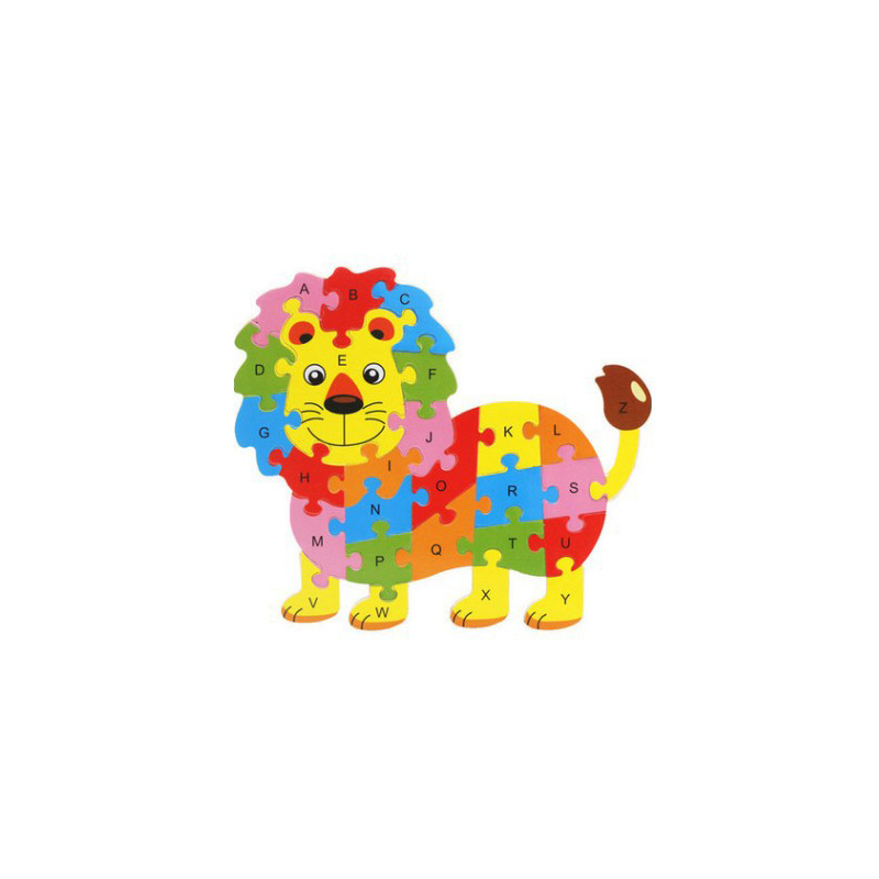 Puzzle games interactive Kids Baby Cute Animal Wooden Puzzle Played Depends on Alphabet Learning Educational Toy for children