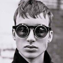 JackJad 2018 moda Vintage SteamPunk gafas De Sol abatibles clásico doble capa Clamshell diseño gafas De Sol