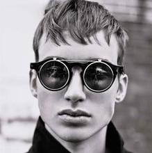 JackJad 2017 Fashion Vintage Round Retro SteamPunk Sunglasses Classic Double Layer Clamshell Design Sun Glasses Oculos De Sol