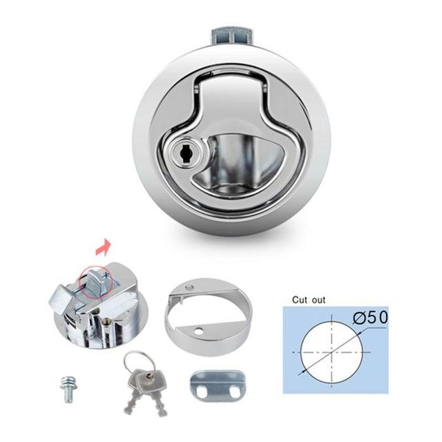 US $10 22 19% OFF Flush Pull Slam Latch Hatch With Lock 1/2 Inch Door For  RV Marine Boat Suitable For Replacement For Southco M1 43-in Marine  Hardware