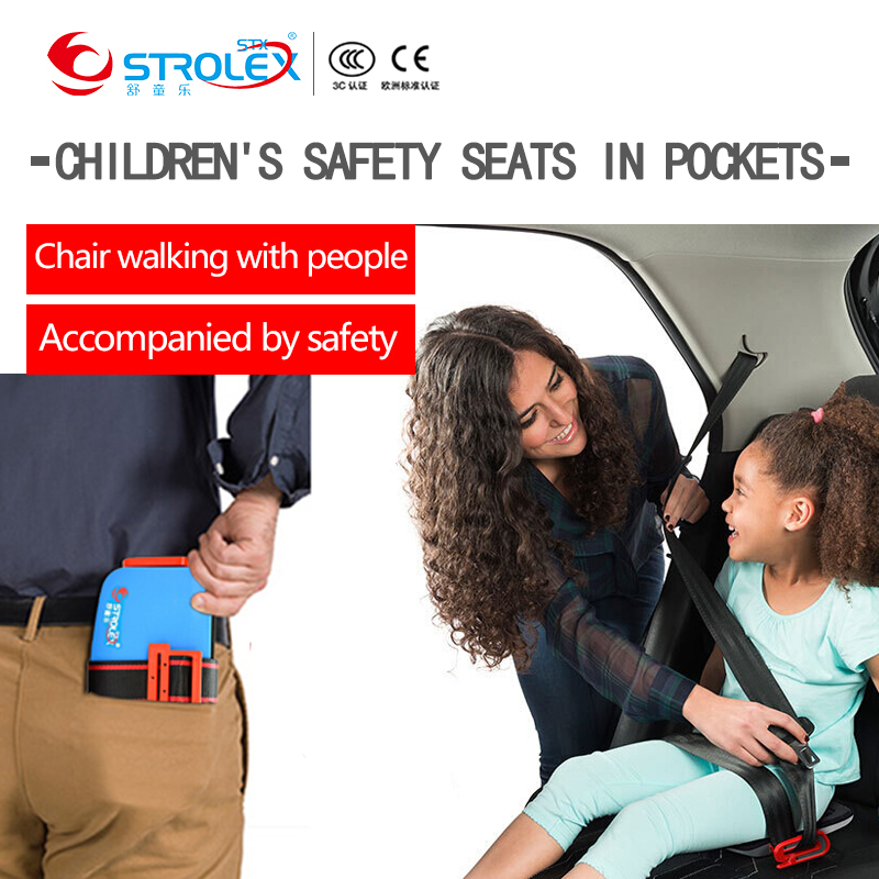 Strolex Mini Portable Baby Car Safety Seat Liners Foldable Travel Pocket Car Seat Safety Cushion Child Car Seat Safety Harness