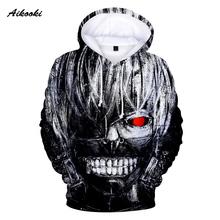Aikooki New Tokyo Ghoul 3D Hoodies Men Women 3D Hoodies Sweatshirts Hoodie Casual Tracksuits Fashion Brand 3D Print Hoodie Coats
