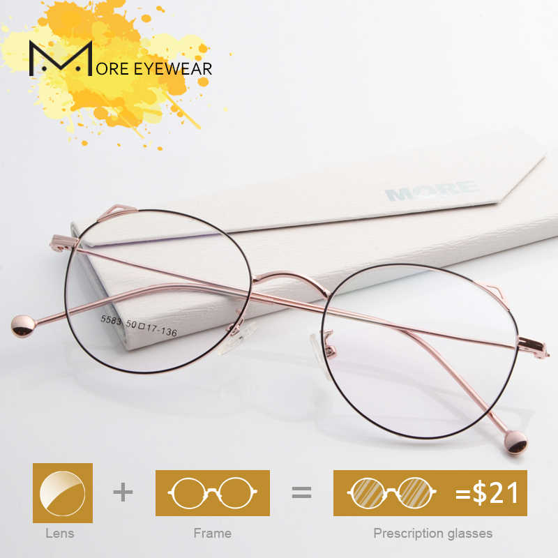 7fd01f331c 5583 DADO New Fashion Classic Prescription Glasses For Women Cat Eye Frame  With Optical Lens Metal