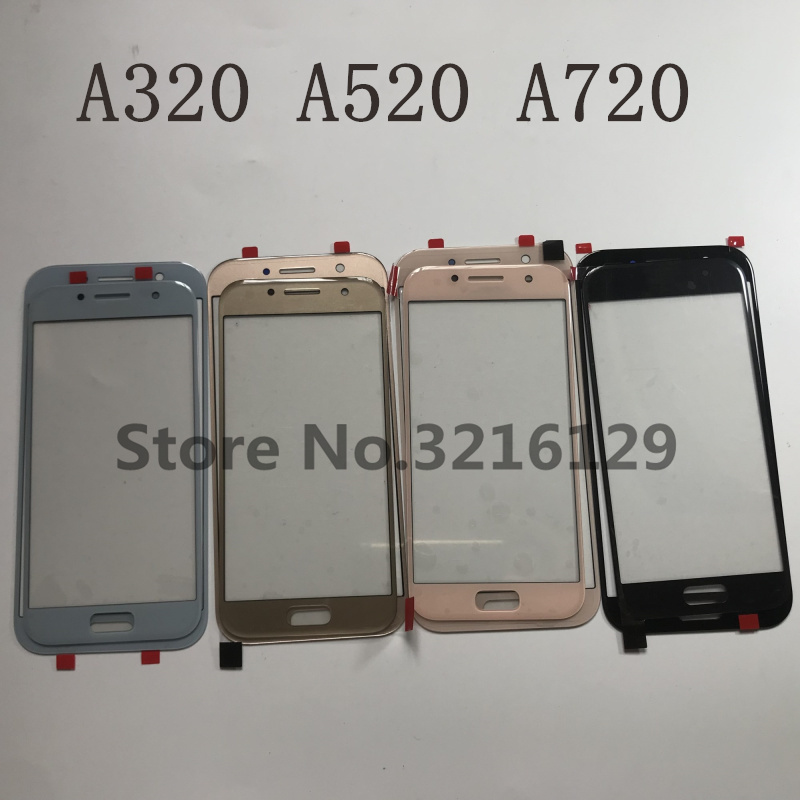 Original External Front Outer Glass Lens Replacement For Samsung Galaxy A3 A5 A7 2017 A320 / A520 / A720 LCD Touch Screen