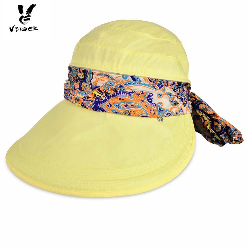 VBIGER Women Detachable Summer Sun Hat Outdoor Sport Foldable Visor Double-purpose Cap Hat Sunbonnet with Zipper Huge Bongrace