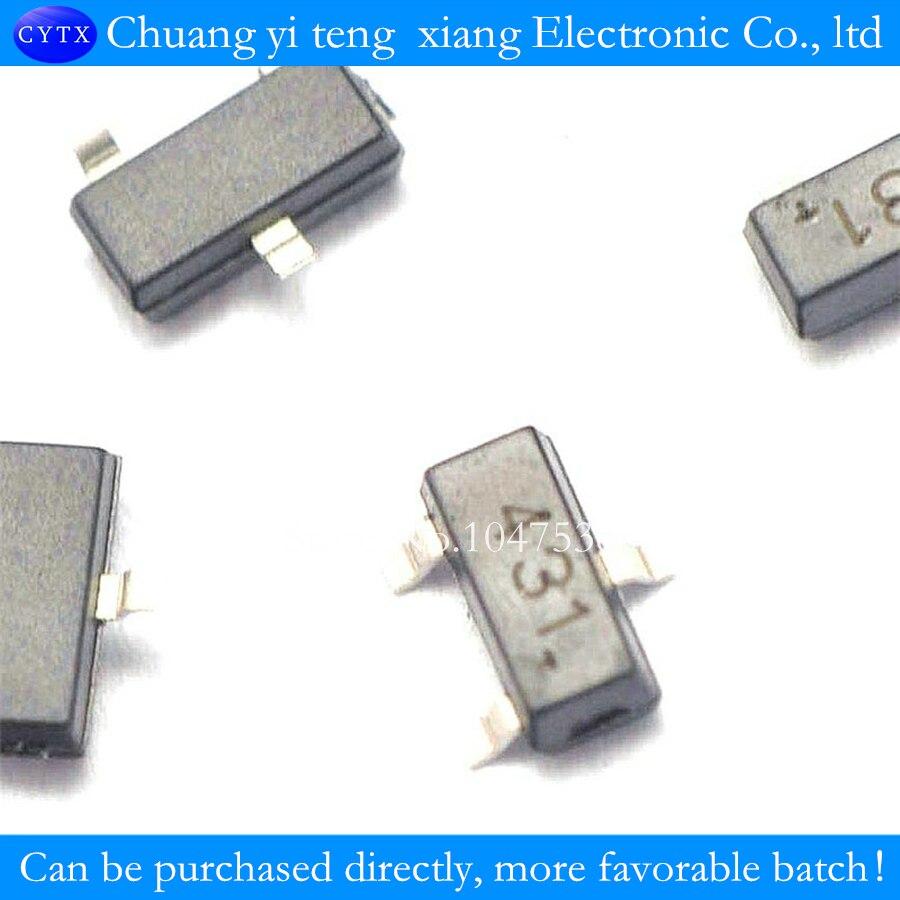 Hot Sale Voltage Regulator Triode Tl431 431 Sot23 Tube Adjustable By 100pcs Lot