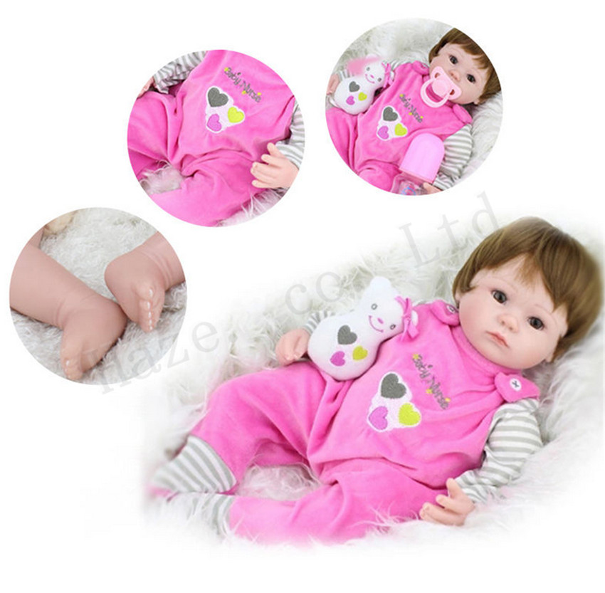 Simulation Reborn Baby Box Suit Girl Doll Dress Collection Section Gift