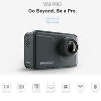 AKASO V50 Pro родной 4 К/30fps 20MP Wi Fi действие Камера с EIS Сенсорный экран 30 м водонепроницаемый спортивный go шлем pro Спорт cam