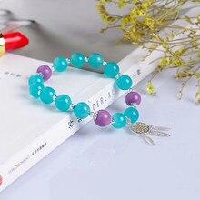 Фотография 925 silver gemstone beads bracelet hand jewelry for women MEDBOO natural green amazonite crystal beads bracelet birthday gift