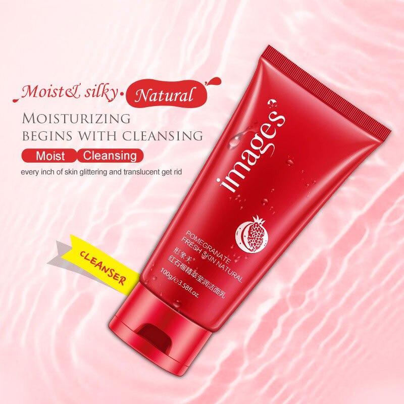 Nuevo Imagrs Rojo granada esencia hierbas dulces loción humectante limpia y refresca a los consumidores limpieza acné limpiador - 2