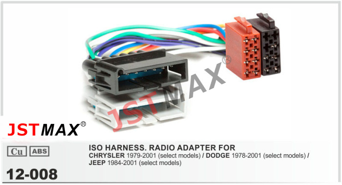 jstmax iso radio adapter for chrysler dodge for jeep. Black Bedroom Furniture Sets. Home Design Ideas