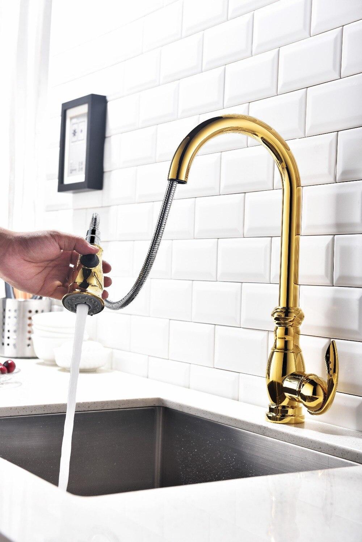 Schnelle lieferung Einhand loch gold Küche Wasserhahn goldene ...