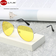 UVLAIK Aviation Night Vision Polarized Sunglasses Men Women Goggles Glasses UV400 Sun Glasses Driver Night Driving Eyewear