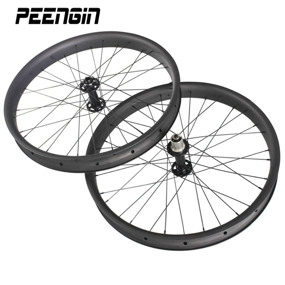 26er Fatbike Wheelset Clincher Full Carbon 65mm Rim wide 3232H 135197mm12