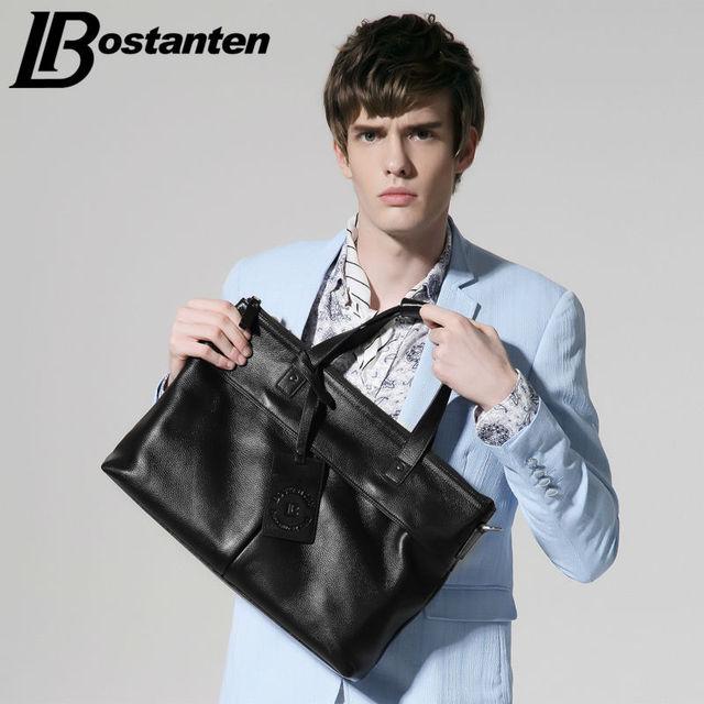 BOSTANTEN Business Men bags Laptop Tote Briefcases Crossbody bags Cow Genuine Leather bag Shoulder Handbag Men's Messenger Bag