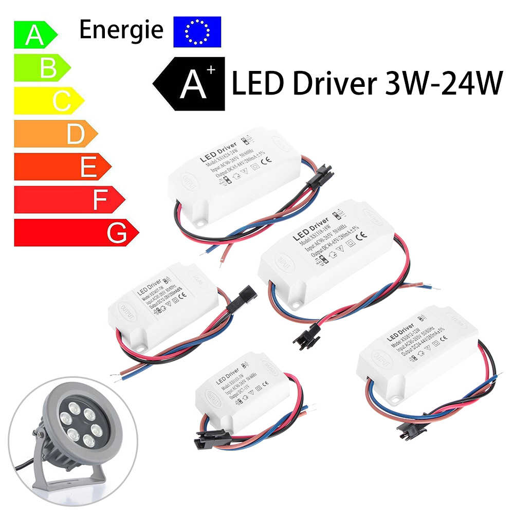 hight resolution of 1pcs 3 24w power supply constant current transformer adapter switch ac 85 265v led