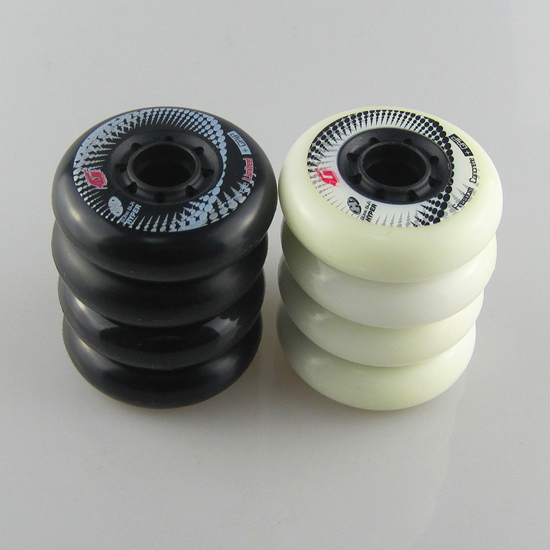 Image 1 - 8pcs 84A Hyper+G Concrete Inline Skate Wheels With ILQ 11 Bearing 80mm Slalom Free Skating Sliding Roller For SEBA Patines Tires-in Scooter Parts & Accessories from Sports & Entertainment