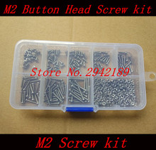 240pc/set M2 Button Head A2 Stainless Steel Hex Socket Screws Bolt With Hex Nuts Assortment Kit