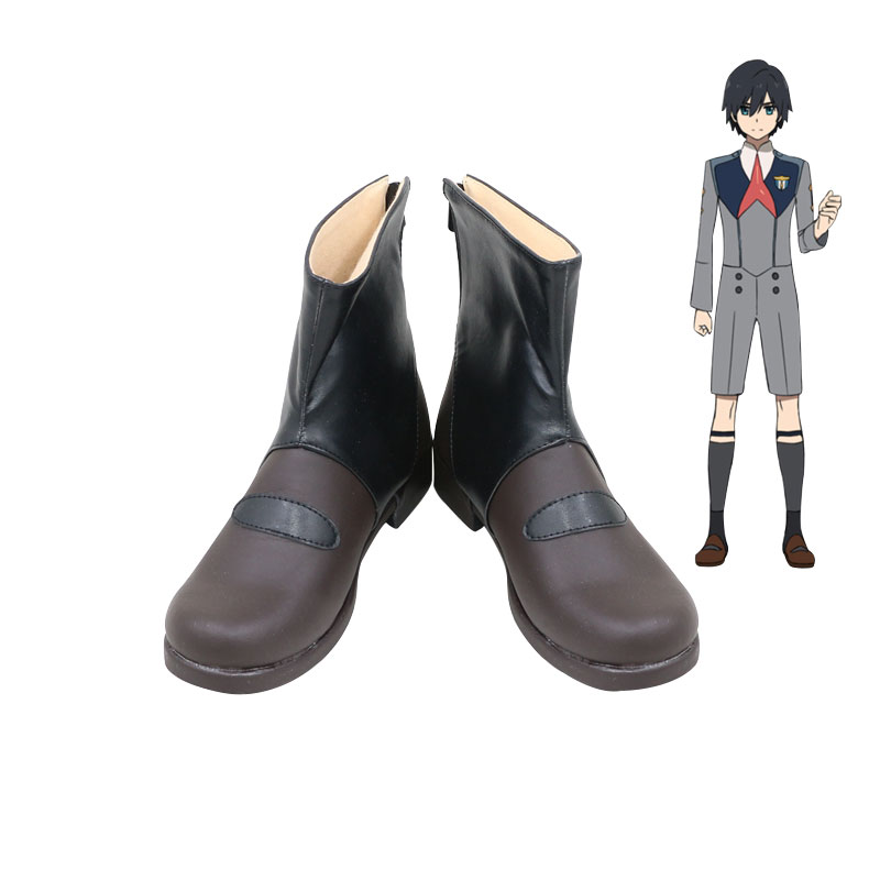 Anime DARLING in the FRANXX Hiro Cosplay Shoes Boots Custom Made European Size