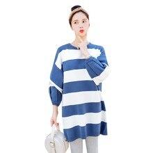 7505b22e2 Nueva moda embarazo Otoño Invierno de suéteres de maternidad gruesa caliente  suéteres de manga larga de las mujeres jersey básic.