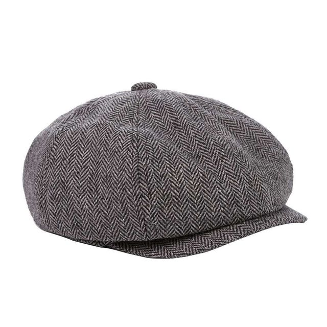 10163568 Unisex Retro Newsboy Hats Golf Driving Wool Ivy Irish Cabbie Applejack Flat  Beret Hat Herringbone Sunbonnet